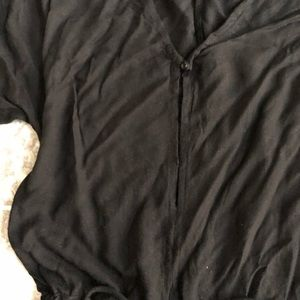 Mikoh Pants - Mikoh Hawaii black long sleeve romper coverup